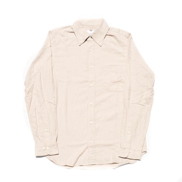 画像1: ts(s) Cotton Heather Soft Flannel B.D. Shirt Light Beige