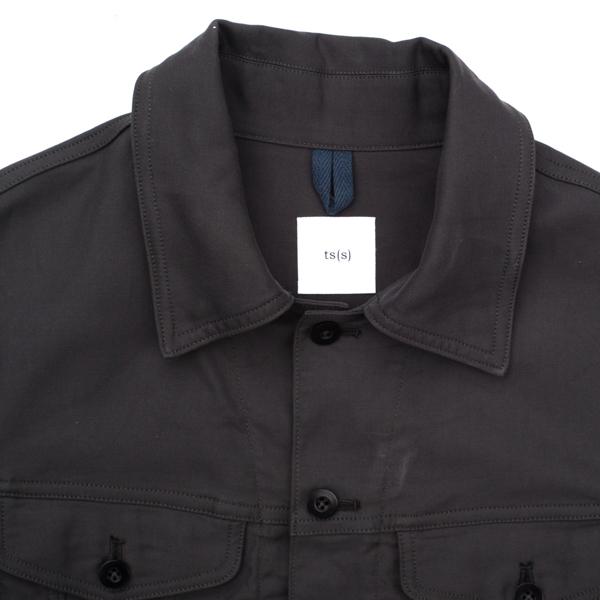 画像2: ts(s) Double Flap Pocket Short Jacket charcoal