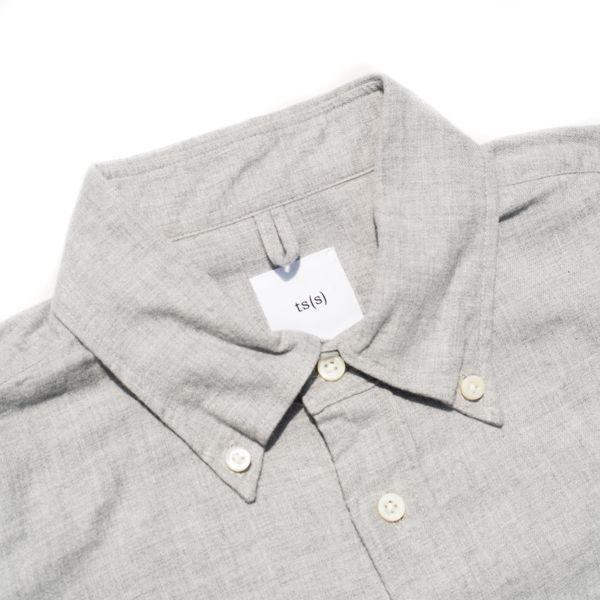 画像2: ts(s) Cotton Heather Soft Flannel B.D. Shirt Light Gray