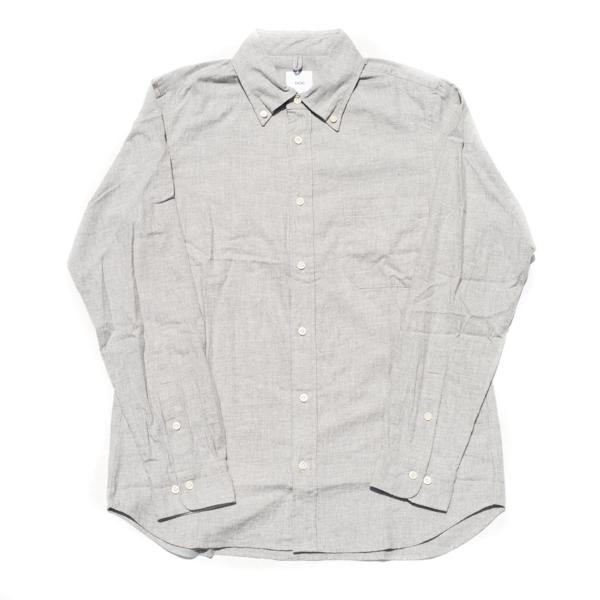画像1: ts(s) Cotton Heather Soft Flannel B.D. Shirt Light Gray