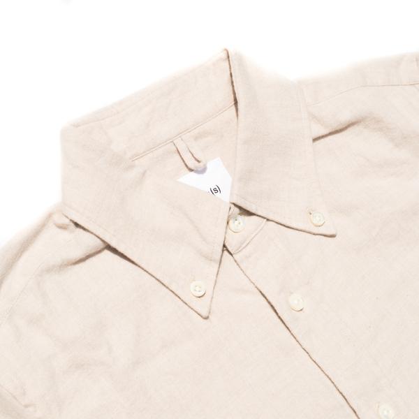画像2: ts(s) Cotton Heather Soft Flannel B.D. Shirt Light Beige
