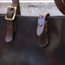 画像2: TRAVEL MINI TOTE BAG brown (2)