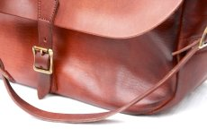 画像6: LETHER POSTMAN SHOLDER BAG camel (6)