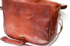 画像12: LETHER POSTMAN SHOLDER BAG camel (12)