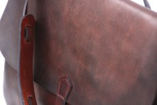 画像3: LETHER POSTMAN SHOLDER BAG d.brown (3)
