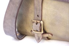 画像4: LEATHER FISHING MINI BAG【HOMEDICT silver gray】 (4)