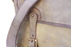 画像3: LEATHER FISHING MINI BAG【HOMEDICT silver gray】 (3)