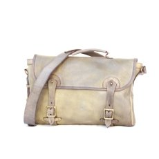 画像1: LEATHER FISHING MINI BAG【HOMEDICT silver gray】 (1)