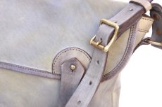 画像8: LEATHER FISHING MINI BAG【HOMEDICT silver gray】 (8)