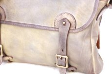 画像2: LEATHER FISHING MINI BAG【HOMEDICT silver gray】 (2)