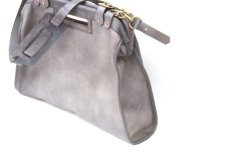 画像11: LEATHER CITY MAIL BAG【HOMEDICT silver gray】 (11)