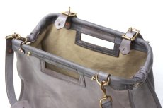 画像8: LEATHER CITY MAIL BAG【HOMEDICT silver gray】 (8)