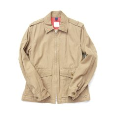 画像1: military zip short jacket (1)