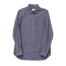 画像1: gingham shirts-navy ts(s) (1)