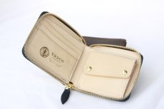 画像6: LEATHER GARRISON ROUND ZIP SHORT WALLET NAVY コードバン (6)
