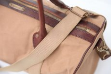 画像3: CANVAS LEATHER BOSTON BAG beige (3)