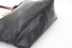 画像4: LEATHER TRAVEL TOTE BAG black【OIL&WAX SPECIAL】 (4)
