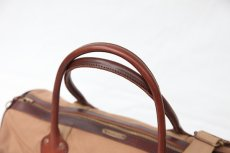 画像4: CANVAS LEATHER BOSTON BAG beige (4)