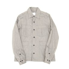 画像1: Chambray Army Shirts gray (1)