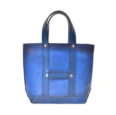 "画像1: LEATHER MINI DAY OFF BAG ""Blue"" (1)"