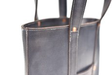 "画像7: LEATHER MINI DAY OFF BAG ""Gray"" (7)"