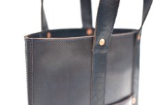 "画像6: LEATHER MINI DAY OFF BAG ""D.Navy"" (6)"