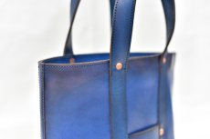 "画像5: LEATHER MINI DAY OFF BAG ""Blue"" (5)"