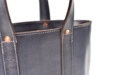 "画像5: LEATHER MINI DAY OFF BAG ""Gray"" (5)"
