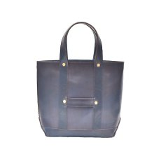"画像1: LEATHER MINI DAY OFF BAG ""D.Navy"" (1)"