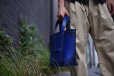 "画像12: LEATHER MINI DAY OFF BAG ""Blue"" (12)"