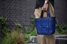 "画像14: LEATHER MINI DAY OFF BAG ""Blue"" (14)"