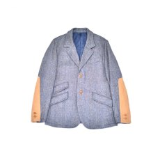 "画像1: Hemp Wool 2 Button Country House Jacket ""Blue Beige"" (1)"