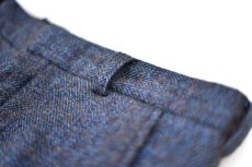 "画像4: Hemp Wool Double Cuffs Straight Pants ""Blue Brown"" (4)"