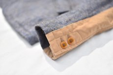 "画像11: Hemp Wool 2 Button Country House Jacket ""Blue Beige"" (11)"