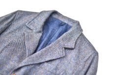 "画像6: Hemp Wool 2 Button Country House Jacket ""Blue Beige"" (6)"