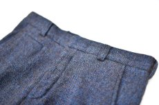 "画像3: Hemp Wool Double Cuffs Straight Pants ""Blue Brown"" (3)"