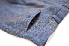 "画像12: Hemp Wool Double Cuffs Straight Pants ""Blue Brown"" (12)"