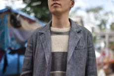 "画像18: Hemp Wool 2 Button Country House Jacket ""Blue Beige"" (18)"