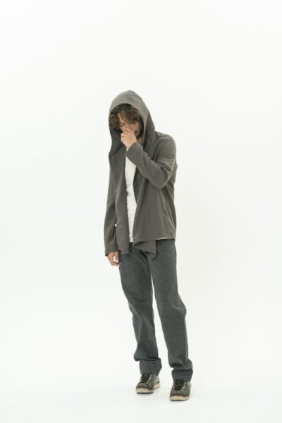画像2: DEFORMED HOODED SHIRTS DARK BROWN