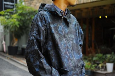 画像1: ts(s) Realtree Camo Cotton Ripstop Cloth 2 Line Zip Hooded Coat NAVY