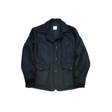 画像1: ts(s) Almost Solid Plaid Wool*Nylon Melton Cloth Bird Watching Jacket (1)