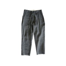 画像1: EYELET DENIM PANTS BLACK (1)