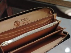 画像4: INDIGO LEATHER ROUND ZIP LONG WALLET (4)