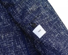画像9: ts(s)  Cotton Blend Summer Tweed Cloth 2 Button Peaked Lapel Jacket BLUE (9)