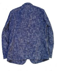 画像10: ts(s)  Cotton Blend Summer Tweed Cloth 2 Button Peaked Lapel Jacket BLUE (10)