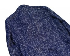 画像11: ts(s)  Cotton Blend Summer Tweed Cloth 2 Button Peaked Lapel Jacket BLUE (11)