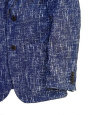 画像7: ts(s)  Cotton Blend Summer Tweed Cloth 2 Button Peaked Lapel Jacket BLUE (7)
