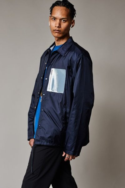 画像1: PVC COACH JACKET NAVY