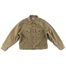 画像1: VINTAGE STRETCH CORDUROY JACKET BEIGE (1)
