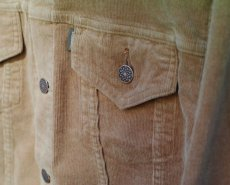 画像11: VINTAGE STRETCH CORDUROY JACKET BEIGE (11)